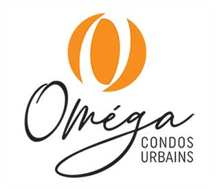 Logo omega condos urbains logo blanc